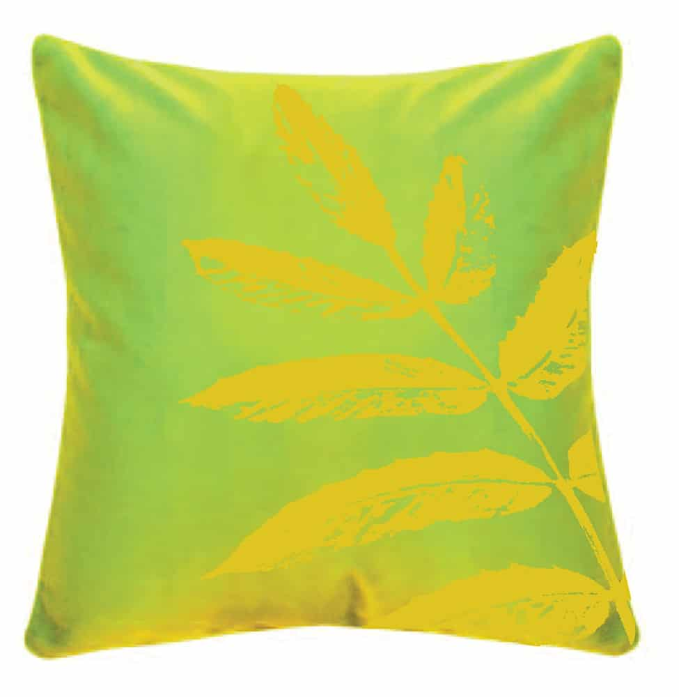 cushion with leaves 1000px10
