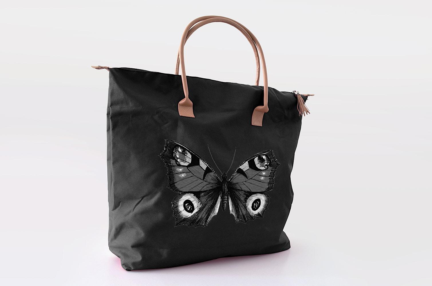 Butterfly Handbag black 1000px2