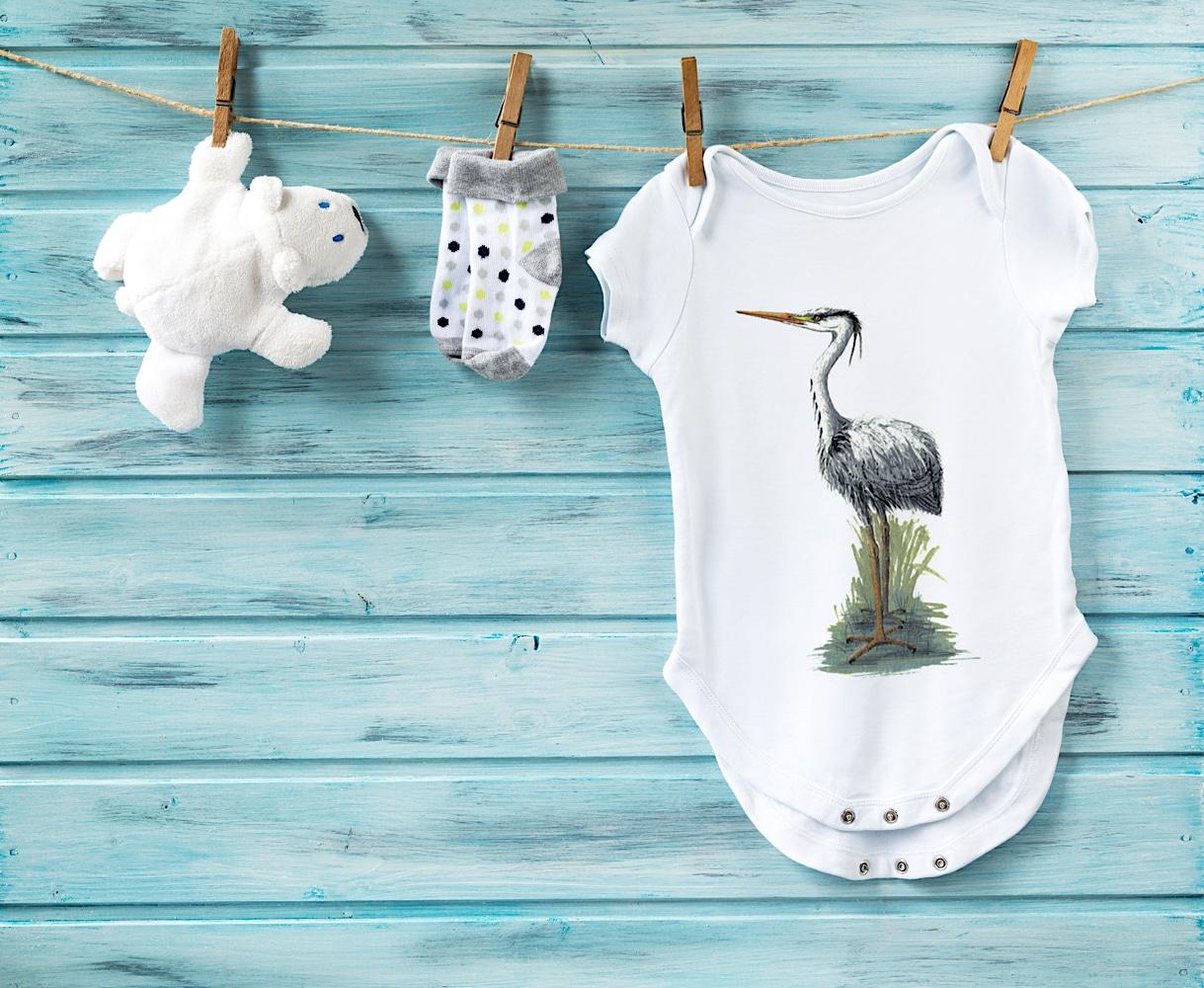 Heron Baby Grow shutterstock 404720599
