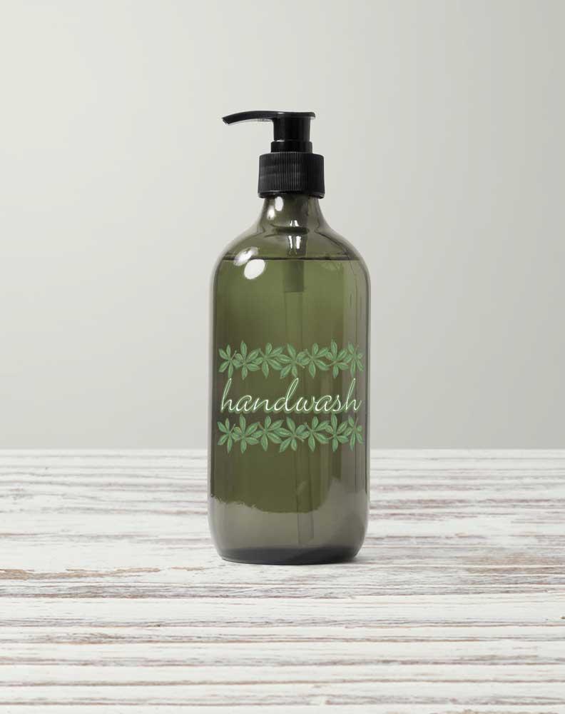 green dispenser bottle